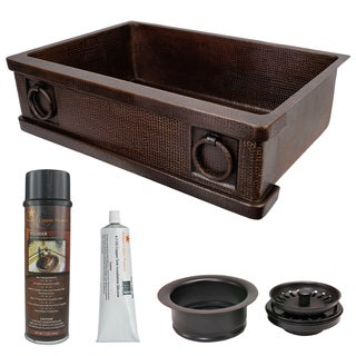 Premier Copper Products - KSP3_KASDB33229R Kitchen Sink and Drain Package