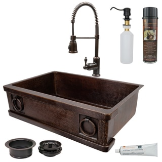 Link to Handmade Kitchen Sink with Faucet and Accessories Package (Mexico) Similar Items in Sinks