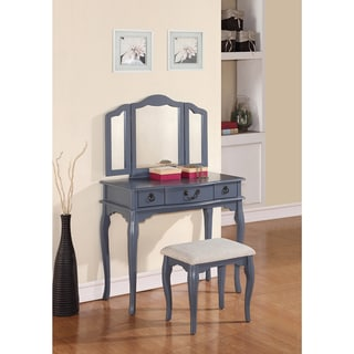 Shop Grand De Lux Vanity Table And Stool Free Shipping