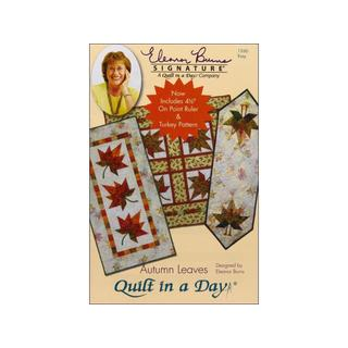 "Quilt In A Day Autumn Leaves Ptrn & 4.5"" On Pt Rul"