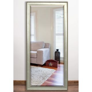 US Made Vintage Silver Beveled Full Body Mirror