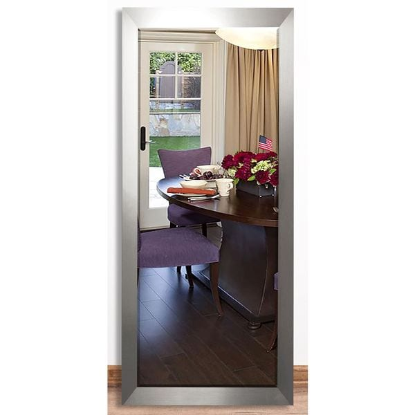 Shop Us Made Silver Wide Beveled Full Body Mirror Free
