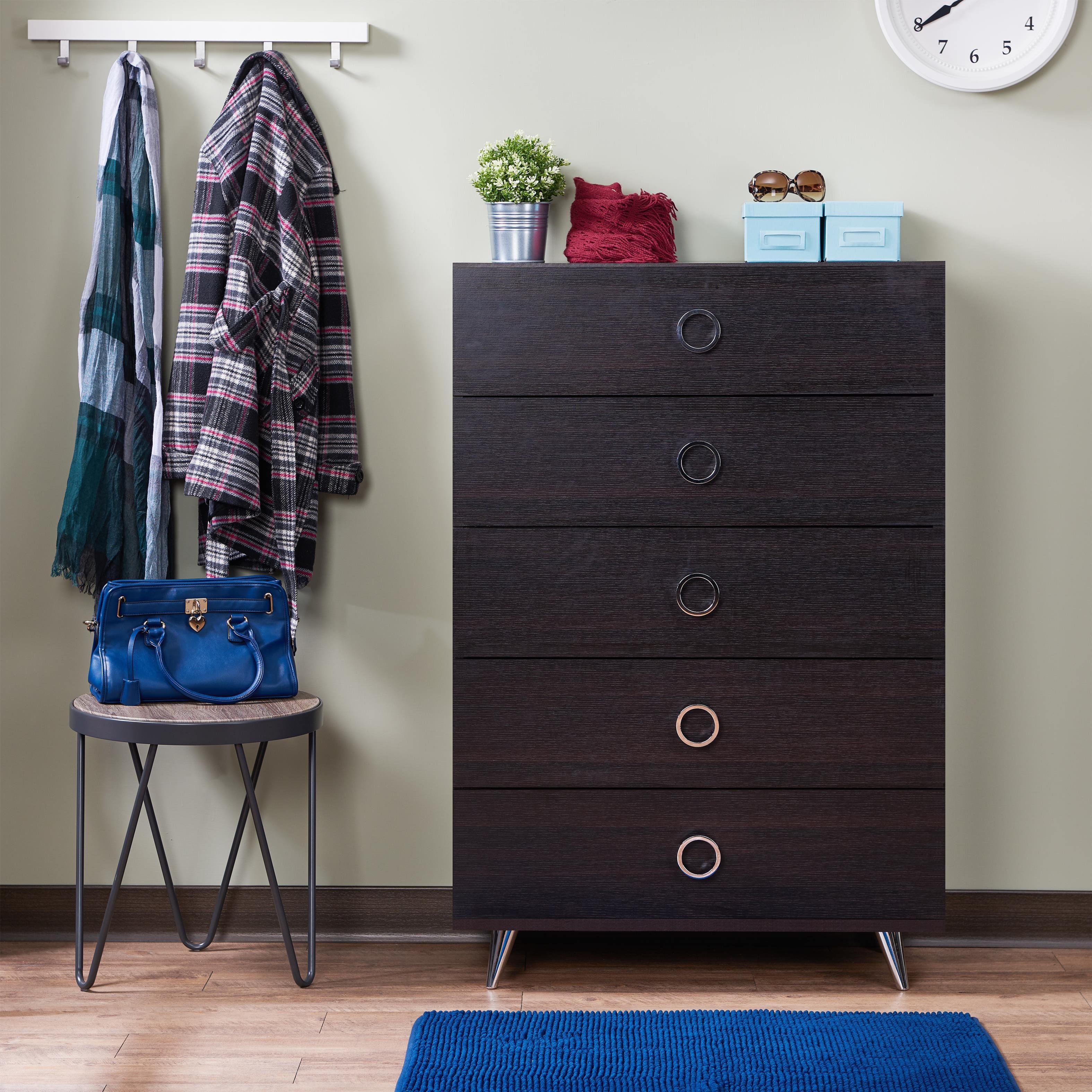 Genial Acme Furniture Elms Brown Wood 5 Drawer Chest