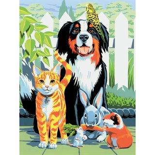 "Junior Small Paint By Number Kit 8.75""X11.75""-Family Pets"