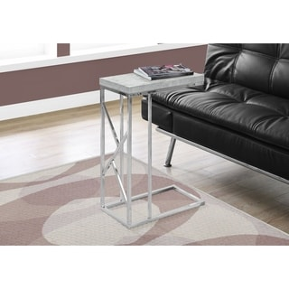 ACCENT TABLE - GREY CEMENT WITH CHROME METAL - Thumbnail 0