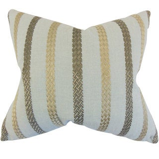 Emese Stripe 24-inch Down Feather Throw Pillow Sea Glass