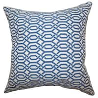 Catriona Geometric 24-inch Down Feather Throw Pillow Blue