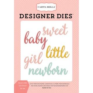 Carta Bella Dies-Rock-A-Bye; Sweet Little Girl Word