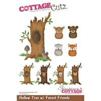 "CottageCutz Die-Hollow Tree W/ Forest Friends, 3.1""X4.5"""
