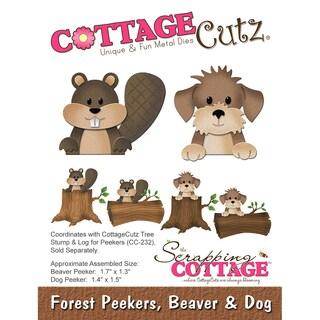 """CottageCutz Die-Beaver & Dog, 1.3"""" To 1.7"""""""