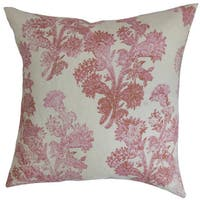 Eara Floral 24-inch Down Feather Throw Pillow Rosehips