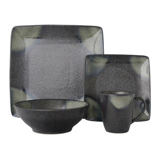 Sango Allusion Black Stoneware 16-piece Dinnerware Set