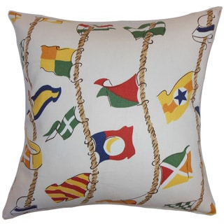 """Inagua Flags 24"""" x 24"""" Down Feather Throw Pillow Multi"""