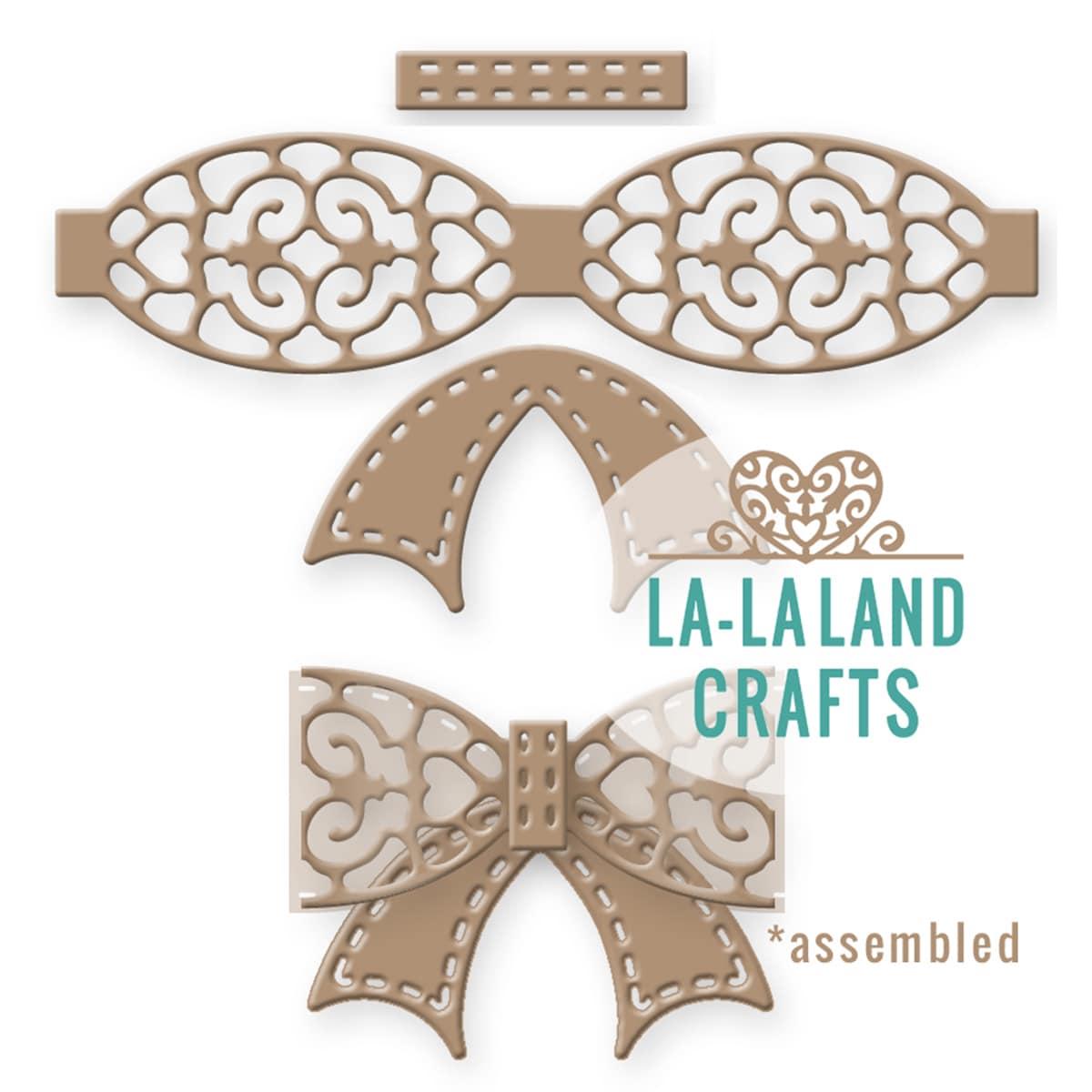 """La-La Land Crafts La-La Land Die-Filigree Bow 2.75""""X2.75""""..."""