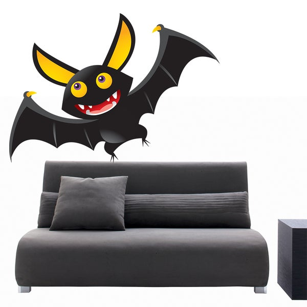 Full Color Hy Bat Night Animals Cartoon Wall Decal Sticker 22 X 26 Free Shipping Today 15284788