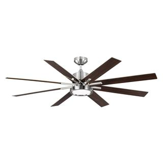 Monte Carlo Empire DR 1-light Brushed Steel Ceiling Fan