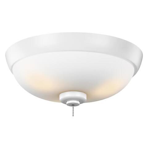 Monte Carlo 3-light Rubberized White Ceiling Fan Light Kit