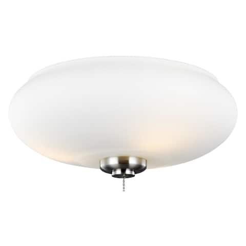 Monte Carlo 3-light Brushed Steel Ceiling Fan Light Kit