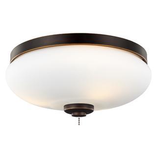 Monte Carlo 3-light Roman Bronze Ceiling Fan Light Kit