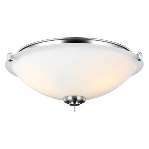Monte Carlo 3 Light Kit Brushed Steel Ceiling Fan Lights