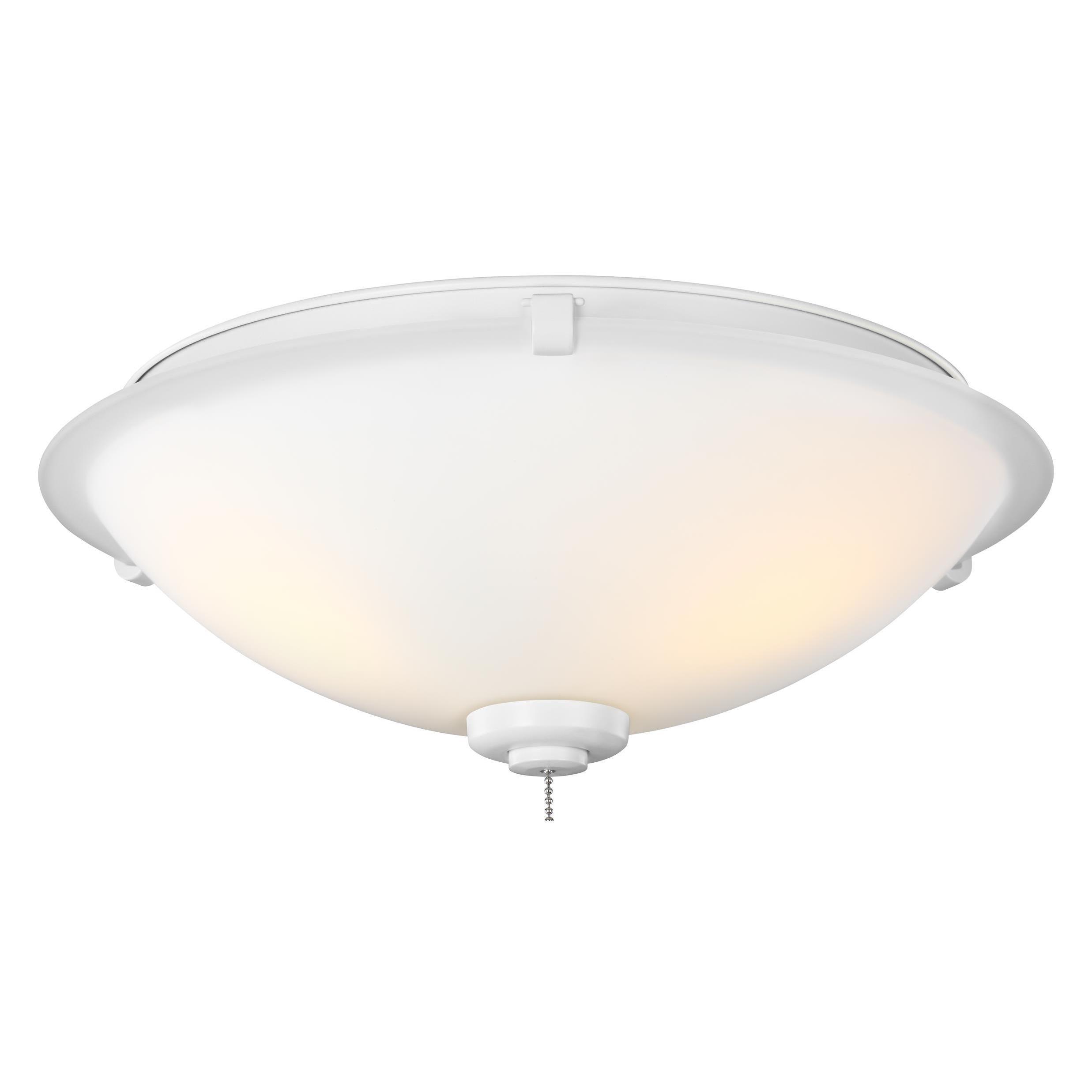 Monte Carlo 3 Light Rubberized White Ceiling Fan Light Kit Overstock 15284837