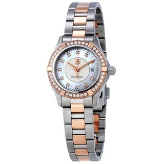 Tag Heuer Women's WAP1452.BD0837 'Aquaracer' 18kt Rose Gold Diamond Two-Tone Stainless Steel Watch