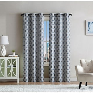 VCNY Home Eli Jacquard Curtain Panel Pair