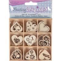 Wooden Shapes 45/Pkg-Heart