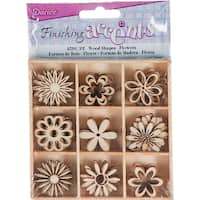 Wooden Shapes 45/Pkg-Flower