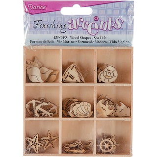 Wooden Shapes 45/Pkg-Sealife