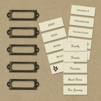 "Eco-Modern Metal Art Labels & Holders .75""X2.375""-20pcs"
