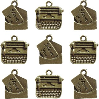 Ken Oliver Vintage Embellishments-Love Note & Typewriter Charms