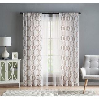 VCNY Home Weston Rod Pocket 4-pack Curtain Panel Pairs