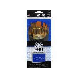 Plaid FolkArt Brush Set Artist Variety 10pc