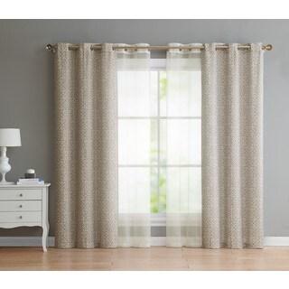 VCNY Home Estrada Grommet 4-pack Curtain Panel Set
