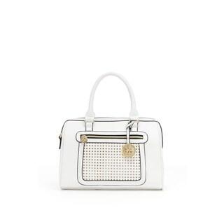 Christian LaCroix Giselle Faux Leather Speedy Satchel Handbag