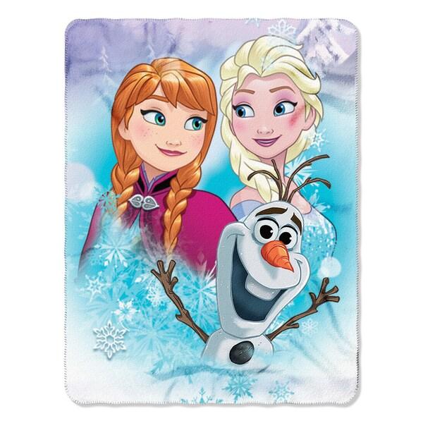 Frozen Snow Journey Throw