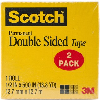 """Scotch Double Sided Tape Perm Refill 1/2x500"""" 2pc"""