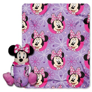 Minnie Mouse Bowtique Throw with Plush Toy