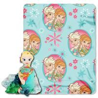 Frozen Elsa Fever Throw with Plush Toy