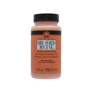 Plaid Folkart Brushed Metal Paint 4oz Copper