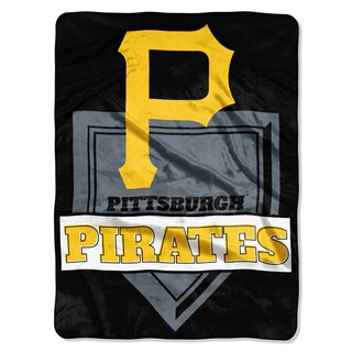 MLB 0803 Pirates Home Plate Raschel Throw