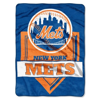 MLB 0803 Mets Home Plate Raschel Throw