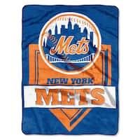 MLB 0803 Mets Home Plate Raschel Throw