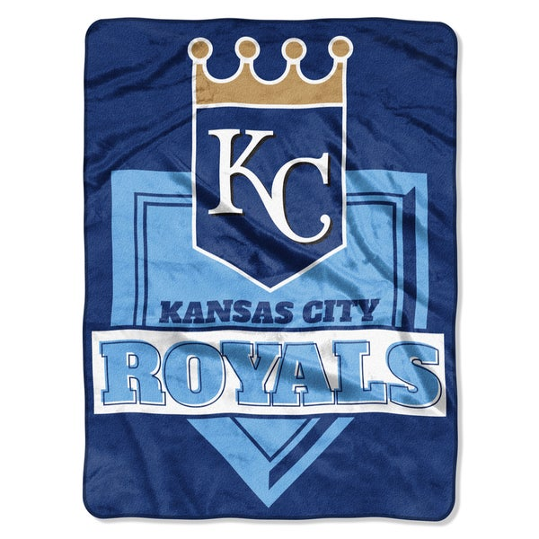 MLB 0803 Royals Home Plate Raschel Throw