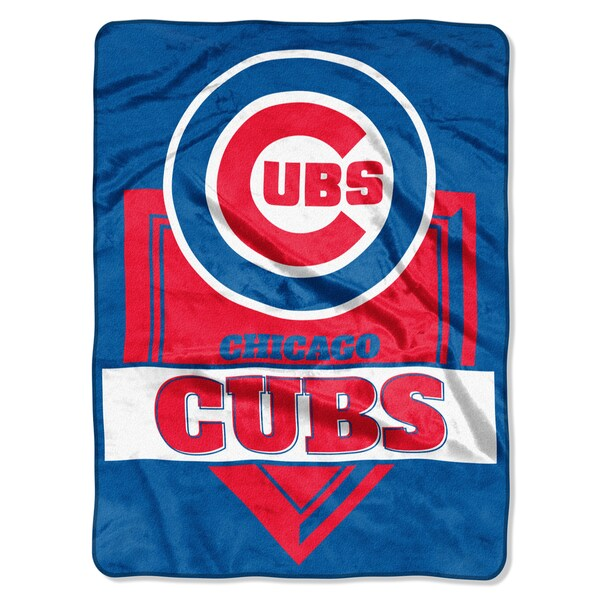 MLB 0803 Cubs Home Plate Raschel Throw