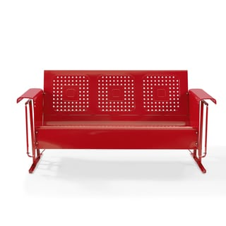 Bates Sofa Glider in Red