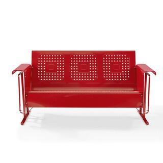 Bates Sofa Glider in Red