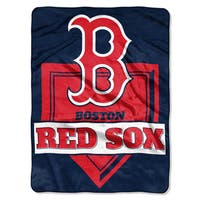 MLB 0803 Red Sox Home Plate Raschel Throw