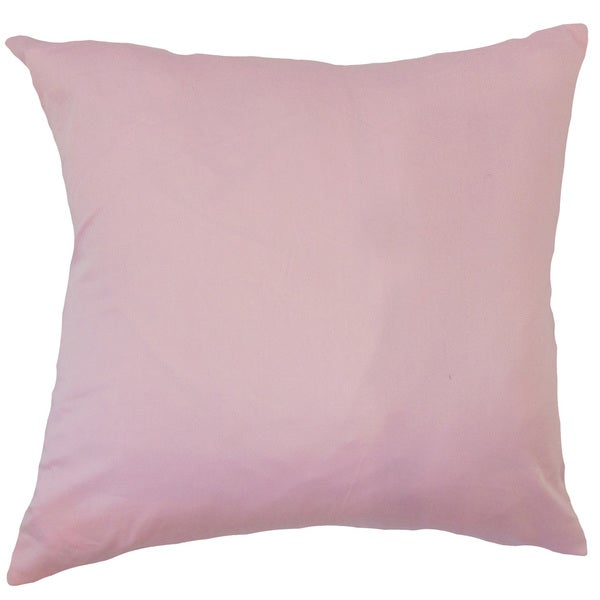 Willene Solid 22-inch Down Feather Throw Pillow Pink
